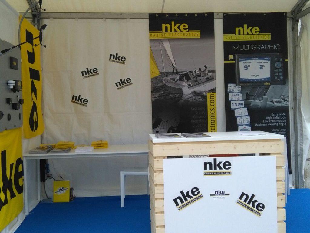 Nke Marine Electronics stand festival della vela